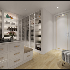 Classic style dressing rooms by 立騰空間設計 Classic