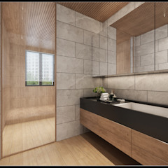 Asian style bathroom by 立騰空間設計 Asian