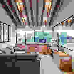 Rustykalny pokój multimedialny od Urbyarch Arquitectura / Diseño Rustykalny