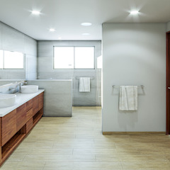 Rustic style bathroom by Urbyarch Arquitectura / Diseño Rustic