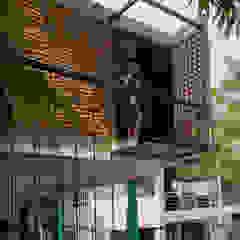 の Taller del patio インダストリアル レンガ