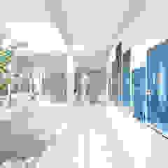 Residencia CS Pasillos, vestíbulos y escaleras modernos de D'ODORICO ARQUITECTURA Moderno