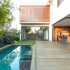 Casa GR Piscinas minimalistas por Frederico Trevisan Arquiteto Minimalista