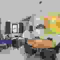 Emerald kitchen and living room Eclectische eetkamers van Obradov Studio Eclectisch