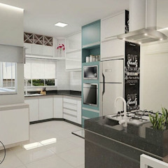 Projeto Residencial Araraquara Cozinhas ecléticas por Daphne Cirino Arquitetura e Interiores Eclético