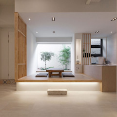 Asian style living room by 디자인투플라이 Asian