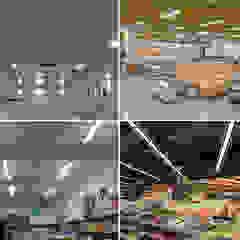 Gimnasios en casa de estilo escandinavo de OVILED Escandinavo Aluminio/Cinc