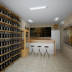 пивной магазин Бары и клубы в стиле минимализм от дизайн-студия КАПУСТА Минимализм
