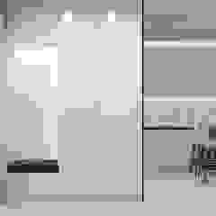 Pasillos, vestíbulos y escaleras minimalistas de 'INTSTYLE' Minimalista Madera Acabado en madera