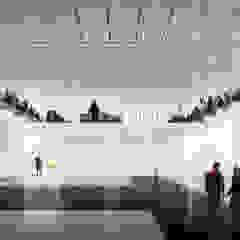 Infografías o Renders Exteriores para concursos de Arquitectura. Salones de eventos de estilo moderno de S-AART Moderno