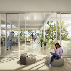 Infografías o Renders Interiores para Arquitectura o Diseño Salones de eventos de estilo moderno de S-AART Moderno