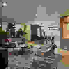Apartamento Gran Reserva Salas de estilo ecléctico de CAJA BLANCA Ecléctico