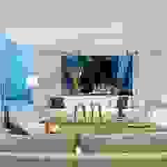 Casa de Playa Salas modernas de Alexander Congonha Moderno
