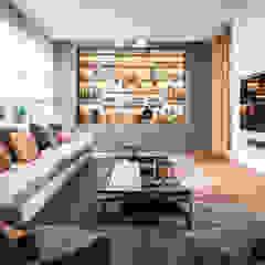 Urban Family Residence Eclectische woonkamers van Caren Pardovitch Eclectisch