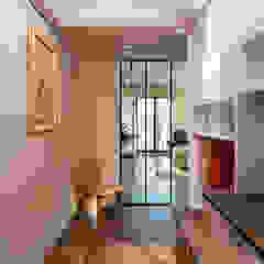 Country style corridor, hallway& stairs by 松泰室內裝修設計工程有限公司 Country ٹائلیں