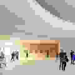 Museus escandinavos por AGE/Alejandro Gaona Estudio Escandinavo Derivados de madeira Transparente