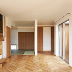 Scandinavian style media rooms by ツジデザイン一級建築士事務所 Scandinavian
