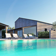 Country style pool by DFG Architetti Associati Country