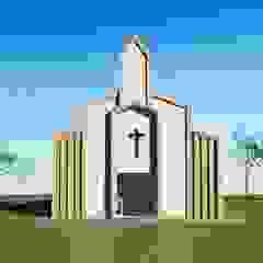 Capela Santo Antônio Paredes e pisos clássicos por Kézia Mendes Arquitetura Clássico Concreto