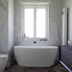 Eclectic style bathrooms by ARCHISPRITZ Eclectic Marble