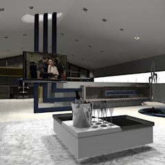 Projeto Completo Espanha Salas multimédia modernas por Arch Design Concept Moderno Madeira Acabamento em madeira