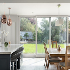 Contemporary Extension Project Photography Hackett Visuals Classic style conservatory Granite Blue