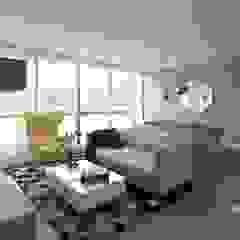 Remodelación apartamento Salas modernas de Moss arquitectura y mobiliario SAS Moderno Madera Acabado en madera
