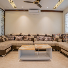 Modern living room by Nabh Design & Associates Modern سنگ مرمر