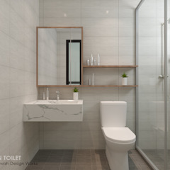 Buangkok Link Modern bathroom by Swish Design Works Modern Plywood