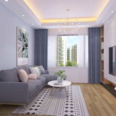 Sumang Lane Modern living room by Swish Design Works Modern Plywood