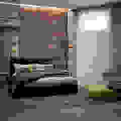 Industrial style bedroom by Архитектурное Бюро 'Капитель' Industrial Stone