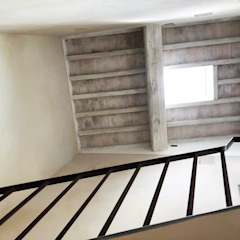 Rustic style corridor, hallway & stairs by PACINI ARCHITECTURAL WORKSHOP Rustic