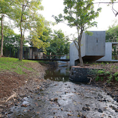 House on a Stream Tropical style garden by Architecture BRIO Tropical