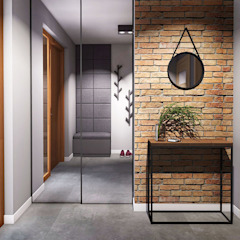 Industrial style corridor, hallway and stairs by IN studio projektowania wnętrz Industrial