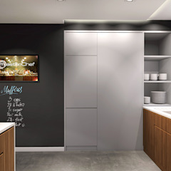 Projekt wnętrza domu jednorodzinnego, Częstochowa Industrialna kuchnia od IN studio projektowania wnętrz Industrialny