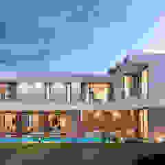 CASA RP1 - Moradia em Oeiras - Projeto de Arquitetura por Traçado Regulador. Lda Moderno Madeira Acabamento em madeira
