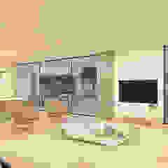 CASA I&J - Moradia em Oeiras - Projeto de Arquitetura Salas de estar modernas por Traçado Regulador. Lda Moderno Granito