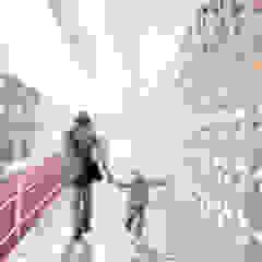 ممر، إستوائي، ممر، رواق، &، درج من Oleb Arquitectura & Interiorismo إستوائي