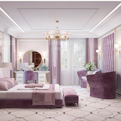 The Perfect Color for a Lady's Bedroom by Luxury Antonovich Design