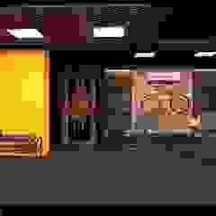 Gimnasios domésticos rústicos de Inception Design Cell Rústico Madera Acabado en madera