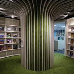 Minimalist offices & stores by 亚卡默设计 Akuma Design Minimalist Plywood