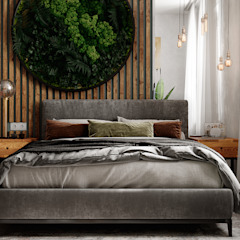 by Студия NATALYA SOLNTSEVA Interiors Design Industrial لکڑی Wood effect