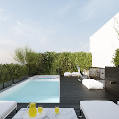 BV 2231 - El Carmen Group Balcones y terrazas modernos: Ideas, imágenes y decoración de SF Render Moderno