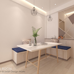 Paya Lebar Residences Modern dining room by Swish Design Works Modern Plywood