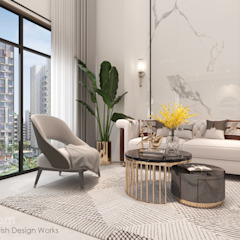 Bishan St 23 Modern living room by Swish Design Works Modern Marble