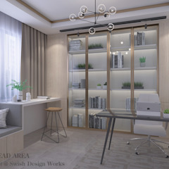 Bishan St 23 Modern study/office by Swish Design Works Modern Plywood