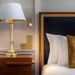 Projetos de hoteis, residenciais e comerciais Hotéis eclécticos por DLOFT Eclético Ferro/Aço