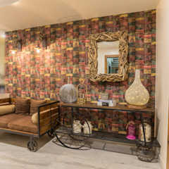 Rustic style corridor, hallway & stairs by Vishakha Chawla Interiors Rustic
