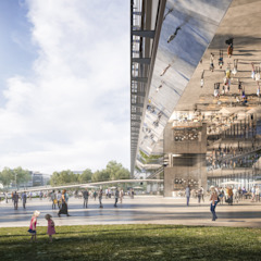 NEW KCP / NEW PCC : Prague Congress Centre extension من OCA architects حداثي حديد