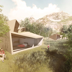 od Arquitecto Manuel Navarro Minimalistyczny Beton